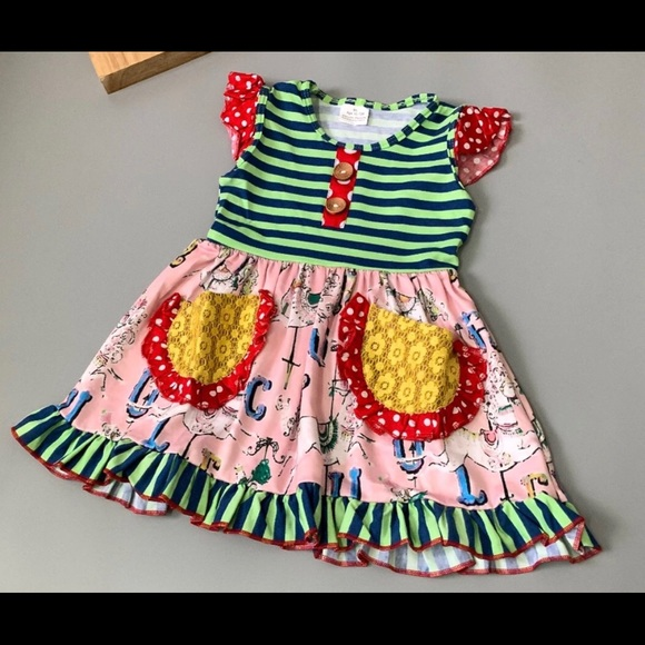 bc4645682a NWT Carousel Horses Patchwork Dress